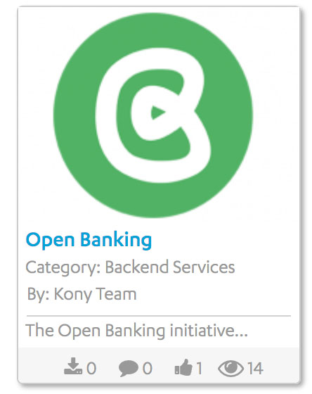 Open Banking on Kony Marketplace
