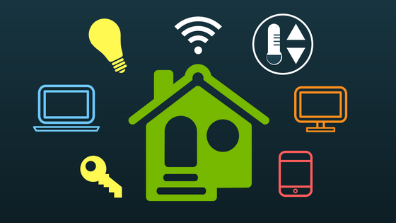 illustration of smart home