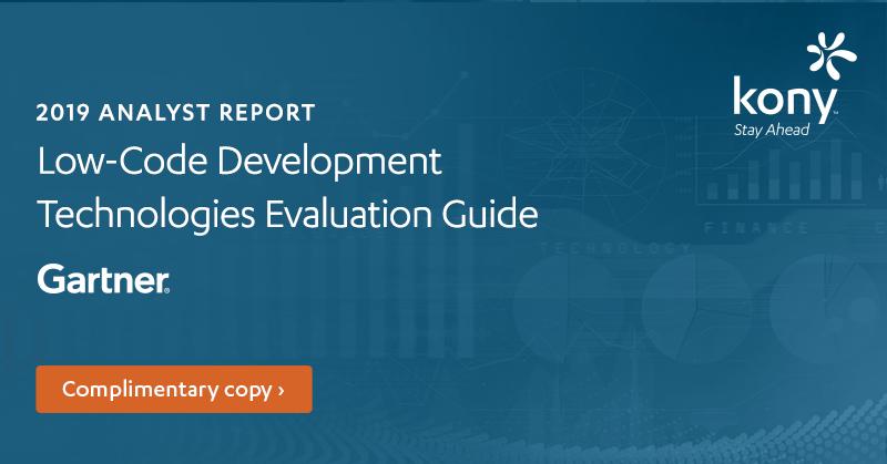2019 Gartner Low-Code Development Technologies Evaluation Guide